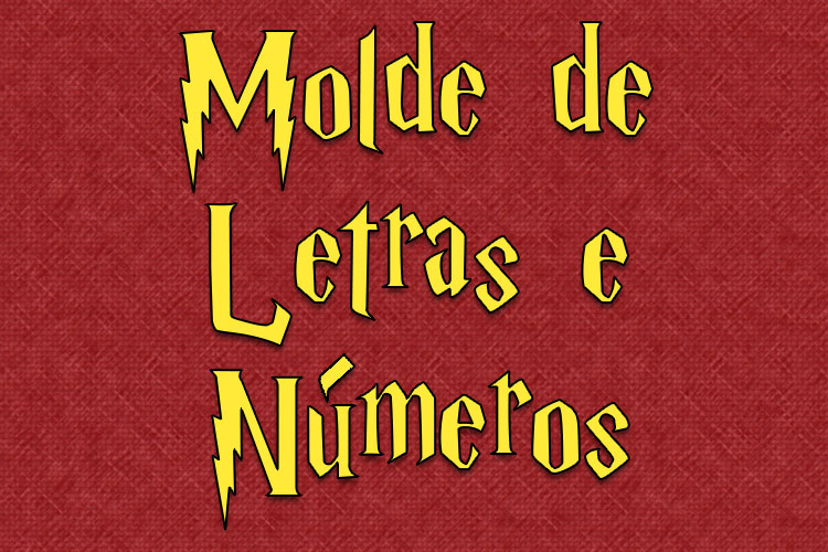 Molde de Letras Estilo Harry Potter