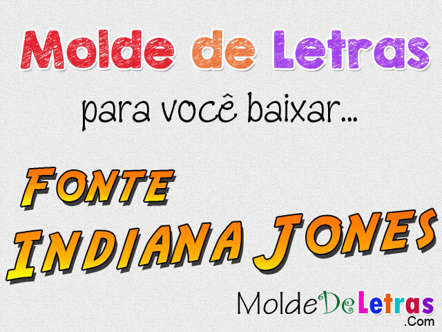 Molde De Letras Indiana Jones