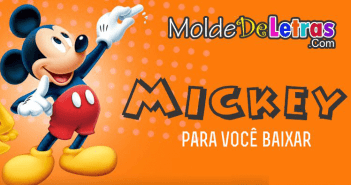 Molde de letras do Mickey