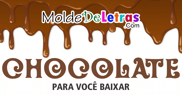 Molde de Letras Chocolate