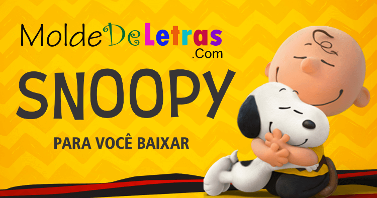 Molde de Letras do Snoopy