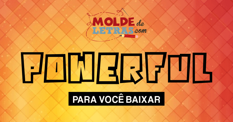 Molde de Letras e Números Powerful
