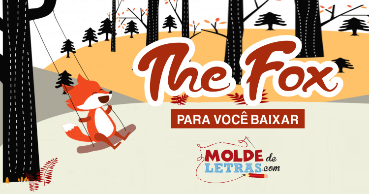 Molde de Letras The Fox