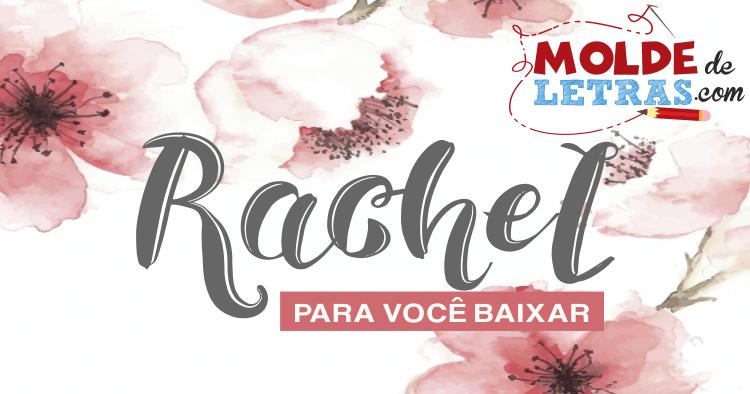 Molde de Letras e Números Rachel