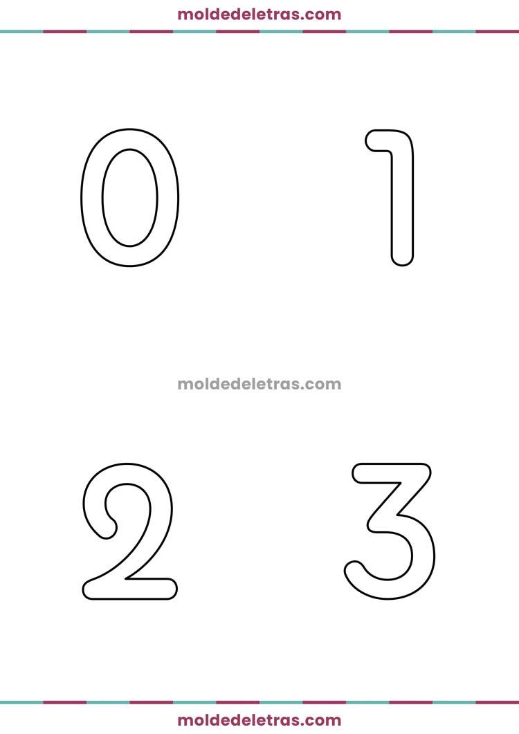 Molde de Números Pauline - Tamanho Grande
