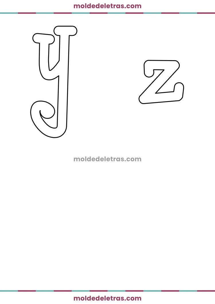 Molde de Letras Curvas BoyzRGross - Minúsculas em Tamanho Grande