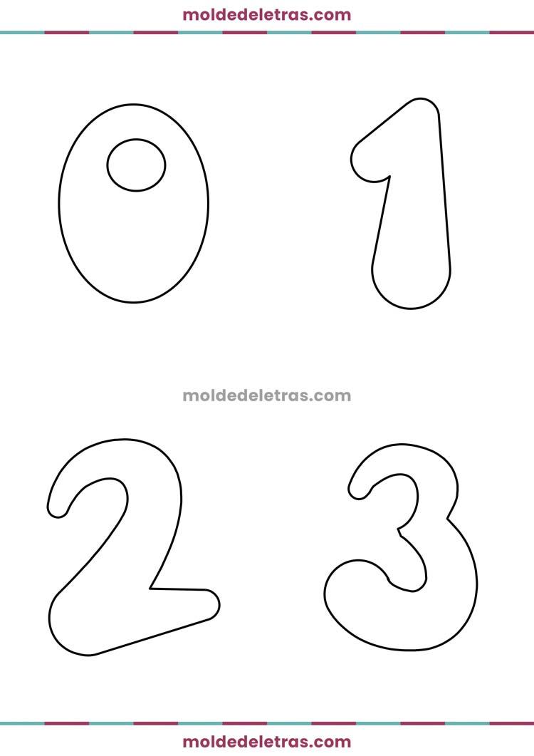 Molde de Números Bolinha - Tamanho Grande