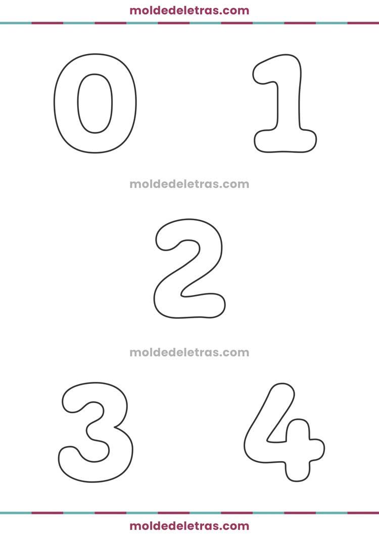 Molde de Números Freude - Tamanho Médio
